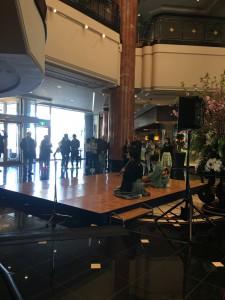 都内ホテルにて外国人旅行者のための桜祭りでのお琴と尺八演奏会