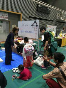 新宿区レガス祭り:着物体験着付協力